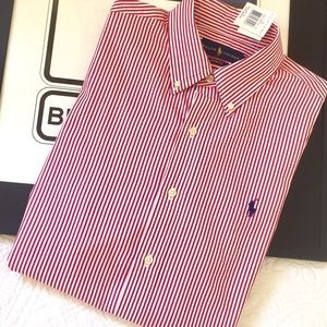 NWT Polo by Ralph Lauren Striped Button Down